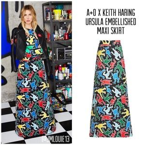🎀SOLD🎀Alice + Olivia x Keith Haring Ursula Skirt